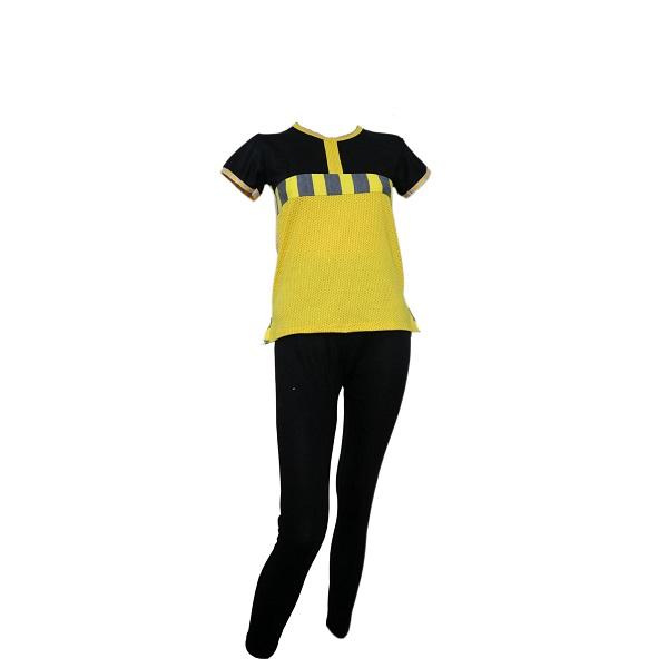تیشرت و شلوار زرد مشکی 30124