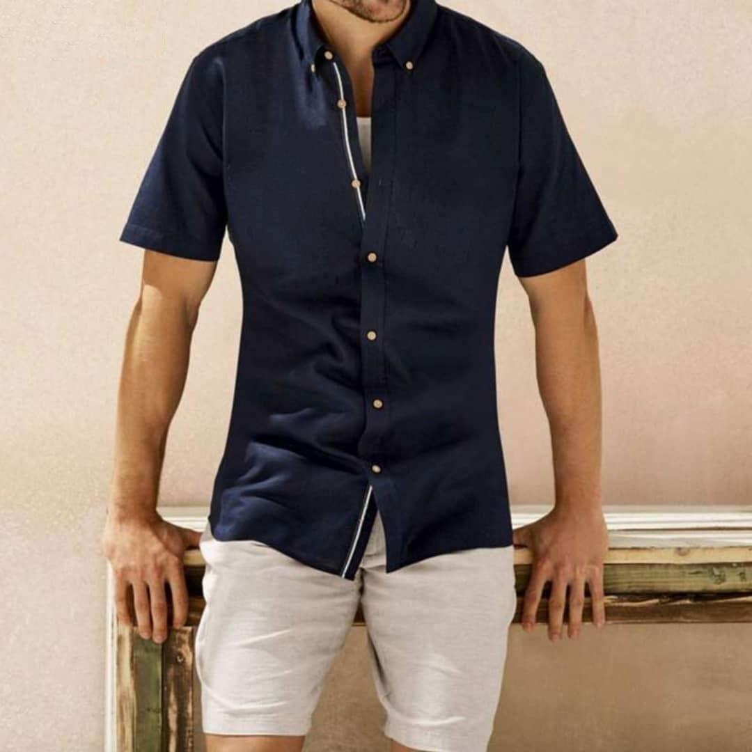 پیراهن آستین کوتاه مردانه لیورجی مدل MPS3