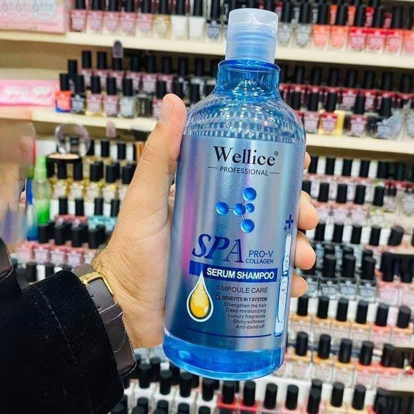 شامپو کلاژن Wellice مدل SPA PRO-V پنج کاره