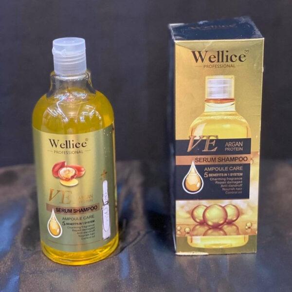 شامپو پروتئینه آرگان Wellice مدل VE پنج کاره